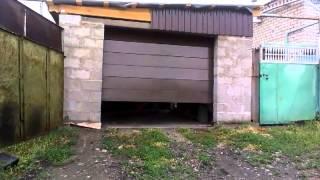 секционные ворота своими руками, вид снаружи
