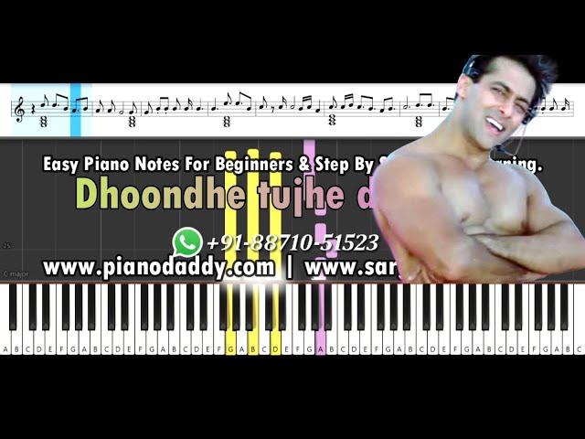 O O Jaane Jaana (Pyaar Kiya To Darna Kya) Piano Tutorial + Piano Notes