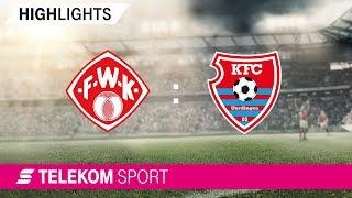 Würzburger Kickers - KFC Uerdingen | Spieltag 2, 18/19 | Telekom Sport