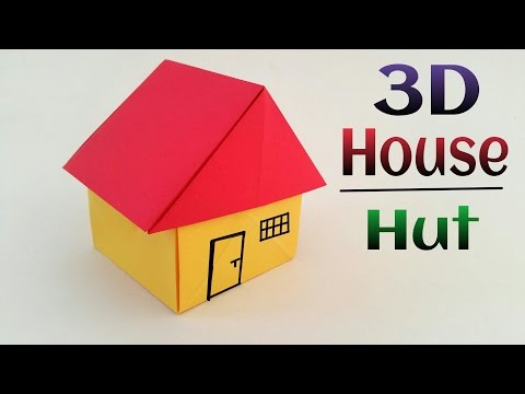 3D House / Hut 🏡 - DIY Origami Tutorial by Paper Folds ❤️