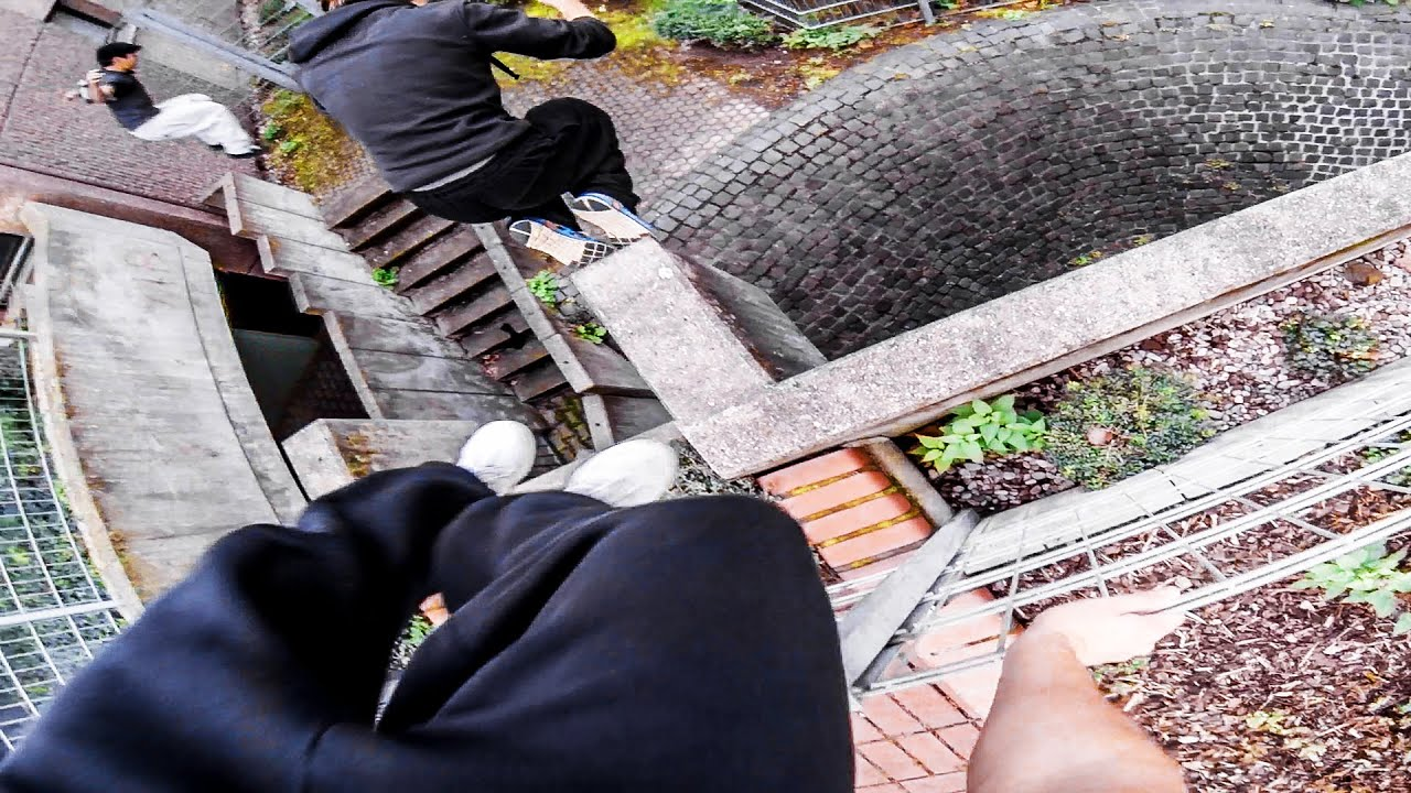 PARKOUR vs. SECURITY - Real Chase Situation - GoPro HERO3