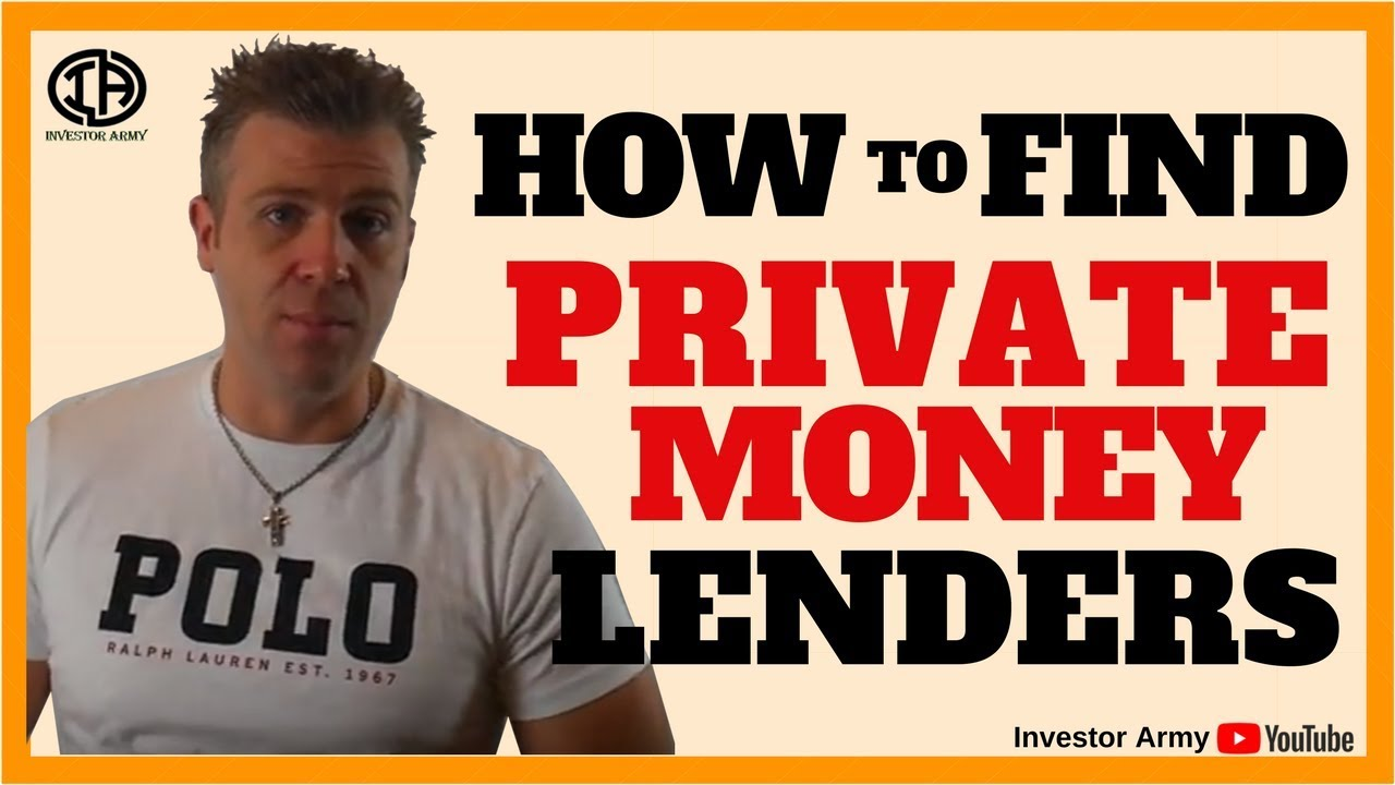 How To Find Private Money Lenders