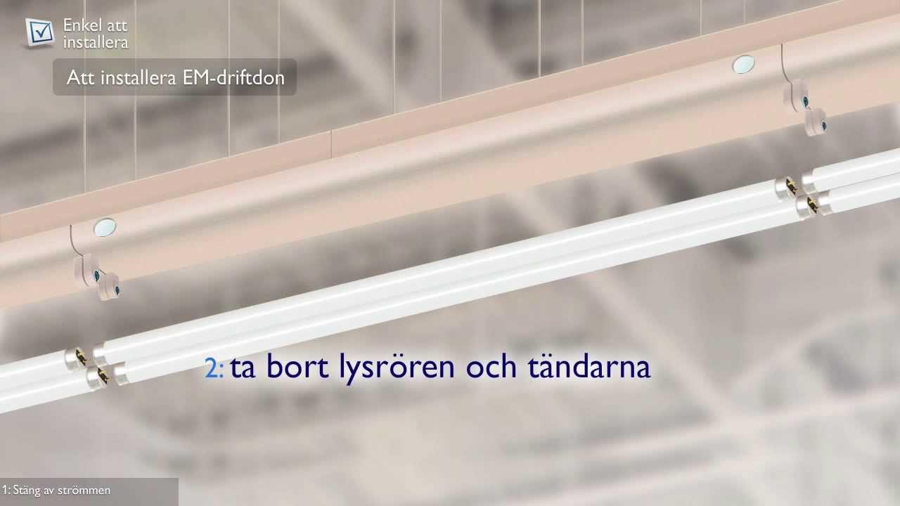 Omtyckta MASTER LED-lysrör Installationsvideo - YouTube RW-75