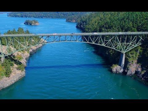 Deception Pass Bridge, Whidbey Island, WA in 4K