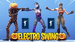 *NEW* Fortnite Electro Swing Emote With Popular Skins..!