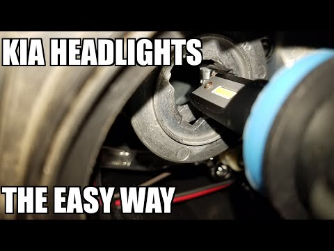 How to Replace Headlight Bulbs on Kia Sorento 2010-2014