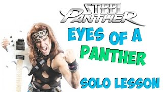 Steel Panther Eyes Of A Panther Guitar Solo Lesson