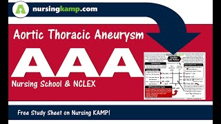 Cardiac AAA Thoracic vs Abdominal Aortic Aneursym Nursing KAMP 2020