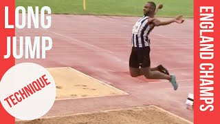 LONG JUMP TECHNIQUE: England Athletic Champs Men's long jump 2019