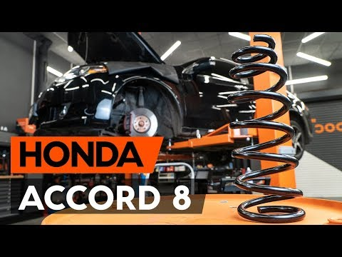 Как заменить пружины передней подвески HONDA ACCORD 8 (CU2) [ВИДЕОУРОК AUTODOC]