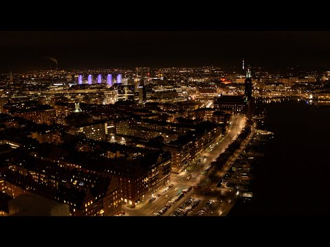 5547. Stockholm Drone Stock Footage Video