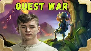 Firebat is playing Quest Warrior near the legend {Hearthstone Un