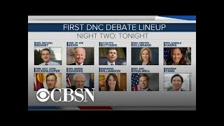 What to expect from the second night of the first Democratic primary debate