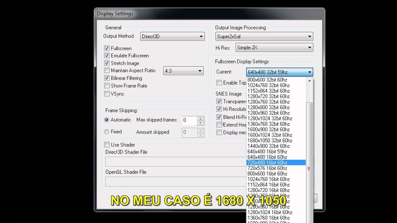 snes9x-1 53-win32 mkv configuração do emulador