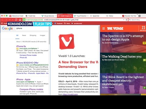 How to use the awesome new Web browser Vivaldi