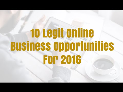 10 Legit Online Business Opportunities For 2016