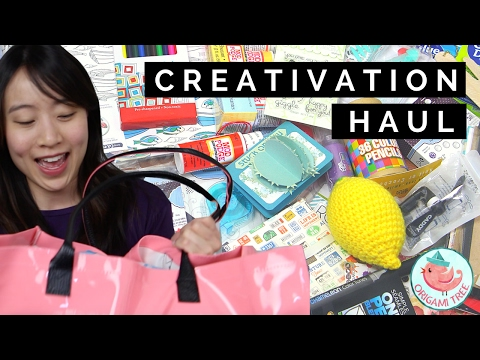 CREATIVATION 2017 Ultimate Arts & Crafts Supply Haul - MY BIGGEST SHOWCASE EVER!