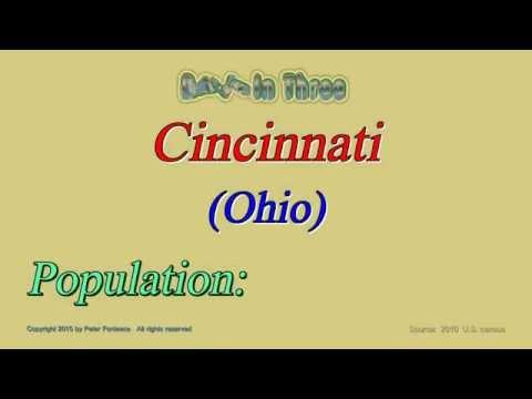 Cincinnati Ohio Population in 2010 - Digits in Three