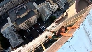 Bet this dangling daredevil will make you sweat!