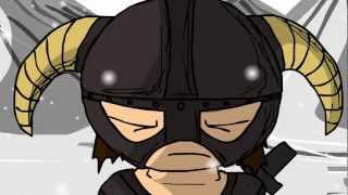 Russian VO Parodies - An Arrow to the Face (Skyrim Animated Movie) RUS
