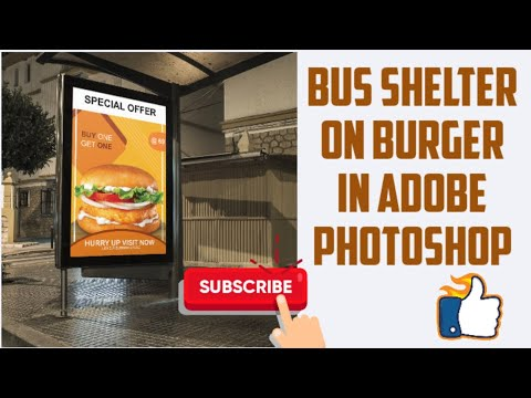 How to Create Bus Shelter on Burger || Photoshop Tutorial || Creative Art By Vibha thumbnail