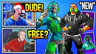 "Streamers React To *NEW* ""STREET OPS"" SKINS! (BUNDLE) Fortnite Moments"