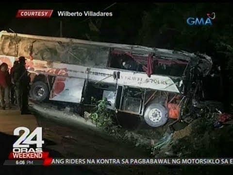 24 Oras: 2 patay, 30 sugatan matapos mahulog sa bangin ang sinasakyang bus
