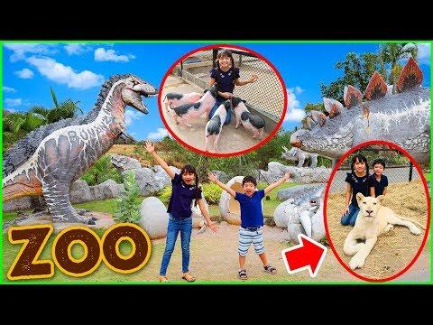 สกายเลอร์   บรีแอนน่าเข้าไปอยู่ในกรงกับสิงโต 🦁 ที่สวนสัตว์ Bonanza Exotic Zoo เขาใหญ่ ตื่นเต้นสุดๆ