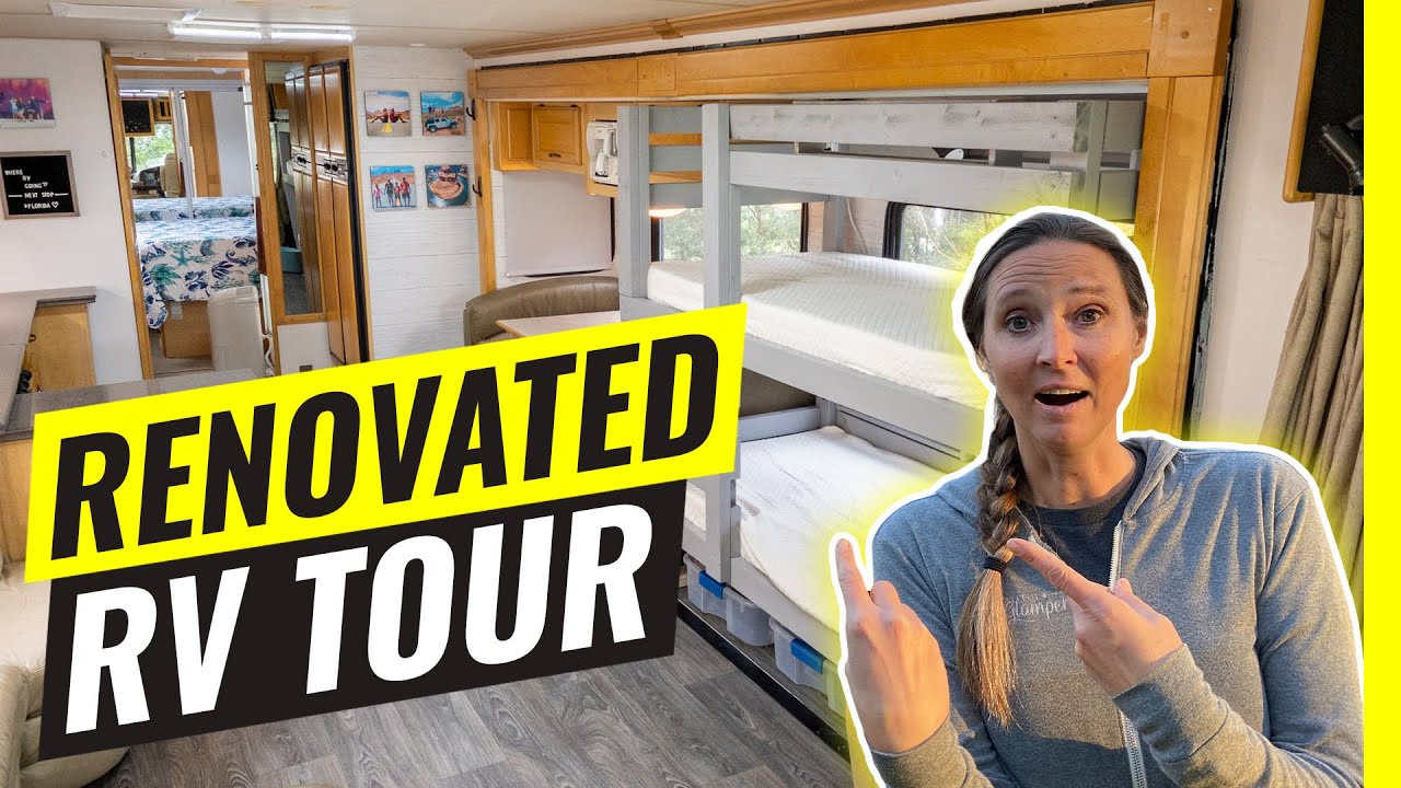 Download Tour Our Renovated RV! We Added Bunks. RV Living After 6 Months (Worth It?)
