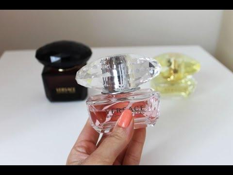 Perfumy Versace Bright Crystal, Crystal Noir, Yellow Diamond - porównanie