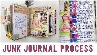 JUNK JOURNAL WITH ME | Ep 07 | Vintage Journal | Journalling Process | How To Use A Junk Journal