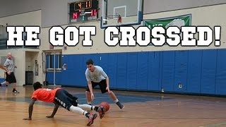 ASHTON GOT HIS ANKLES TAKEN! 5 ON 5 REC BASKETBALL GAME #1