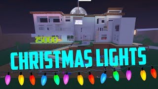 Hanging Up Christmas Lights! Roblox Lumber Tycoon 2