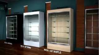 Retail Trophy Wall Display Cases.avi
