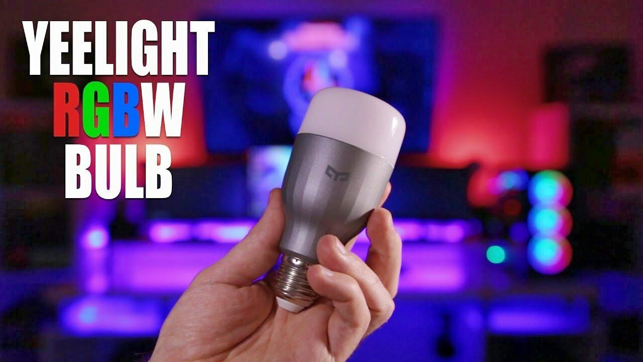 video Xiaomi Yeelight YLDP02YL E27 9W RGBW Smart LED Bulb