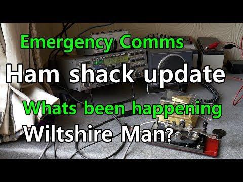 Wiltshire Man Ham Radio Update. Elecraft K2 Radio Contacts Using Morse Code