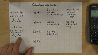 Calculations with Upper and Lower Bounds