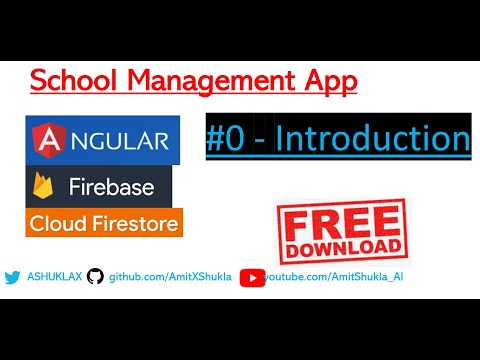 Angular Firebase #0 School, Student Management App - Free Download With Complete Source Code