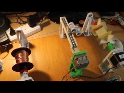 видео: Станок для намотки трансформаторов (продолжение)