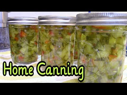 Home Canned Sweet Pickle Relish (Vlog Style)
