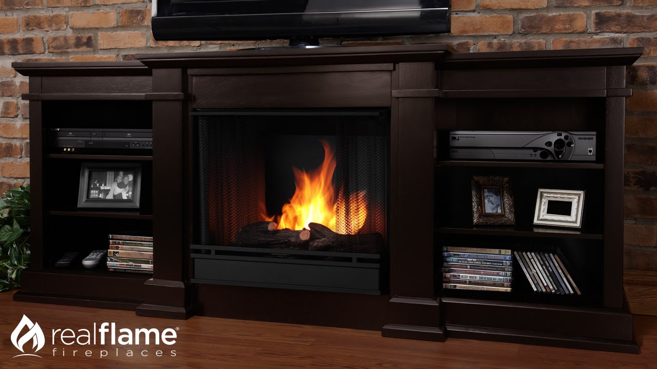 The Real Flame Fresno entertainment mantel is compatible with either a Real Flame VividFlame LED Electric Firebox or Gel Fuel Firebox. Featuring adjustable s...