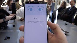 Galaxy S8 Iris Scanner and Fingerprint Demo!