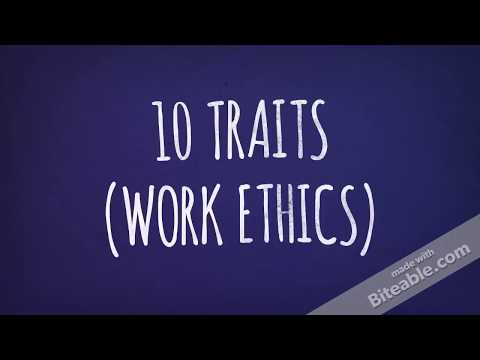 10 TRAITS (WORK ETHICS)