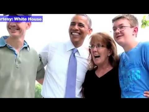 Watch video: Barack Obama surprise walk in park
