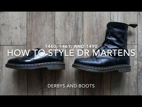 How To Style Dr Martens 1460, 1461 & 1490 | 5 Outfits with Docs | Fashion