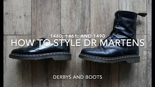 How To Style Dr Martens 1460, 1461 & 1490   5 Outfits with Docs   Fashion