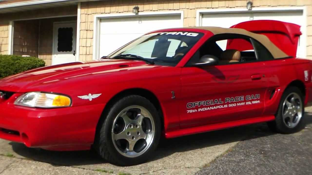 Sold1994 ford mustang svt cobra pace car for sale22000 milesamazing cartop show winner