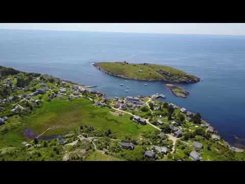 Monhegan Island Maine Raw drone footage #5