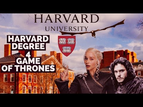 STUDY GAME OF THRONES AT HARVARD