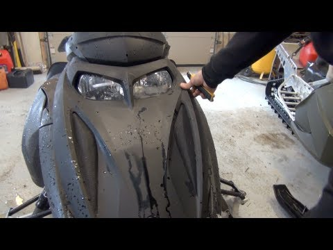 Ski doo REV 700 mod sled Build ep# 28 DIY Vent screen install and clutch cover Mod!  PowerModz